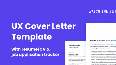 Figma UX Cover Letter Template (Community)