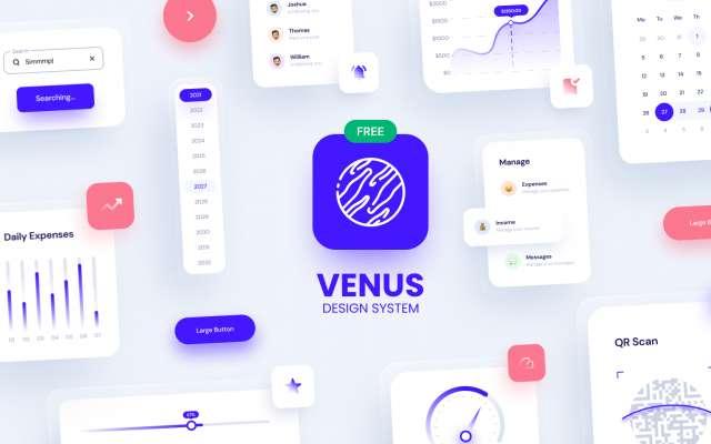 Figma Venus - Design System 2021 (Free Version)