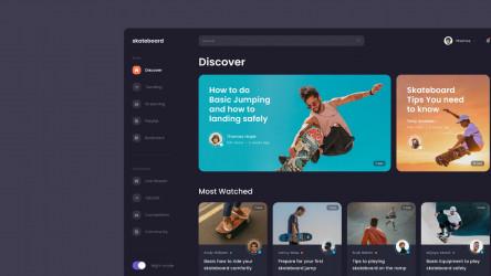 Figma Video Platform (Skateboard) Template