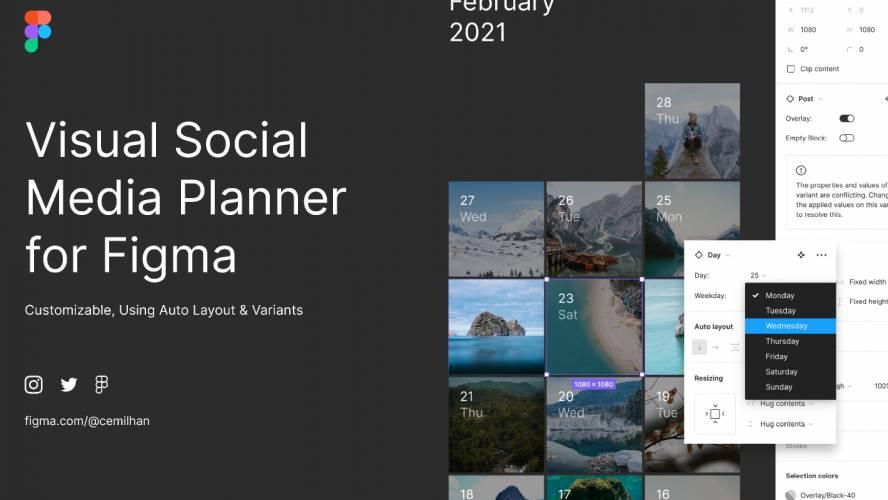 figma Visual Social Media Planner template