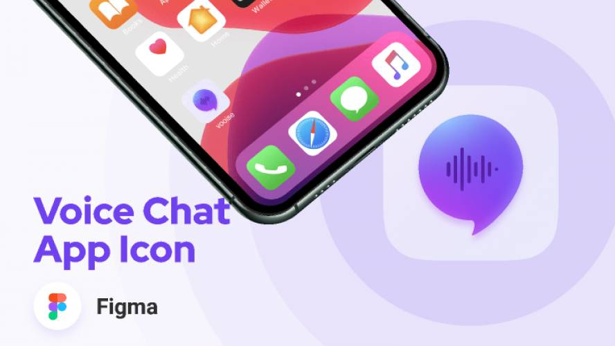 Figma Voice Chat App Icon