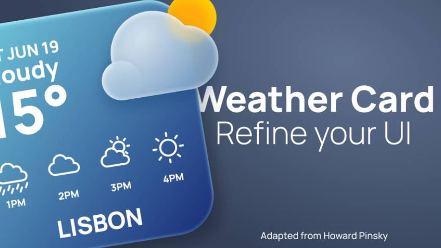 Figma Weather Card Template