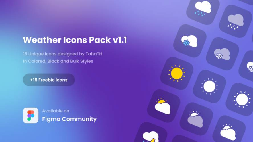 Figma Weather Icons Pack v1.1 Free Download