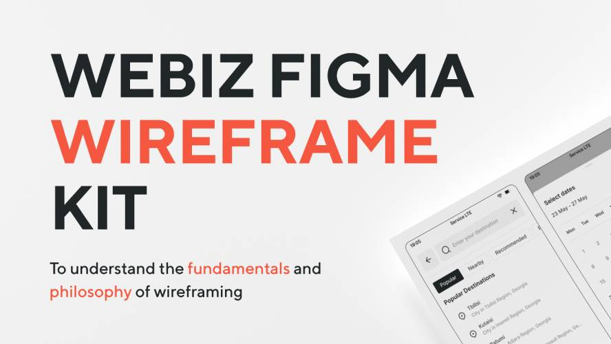 Figma Webiz Wireframe UI Kit Template
