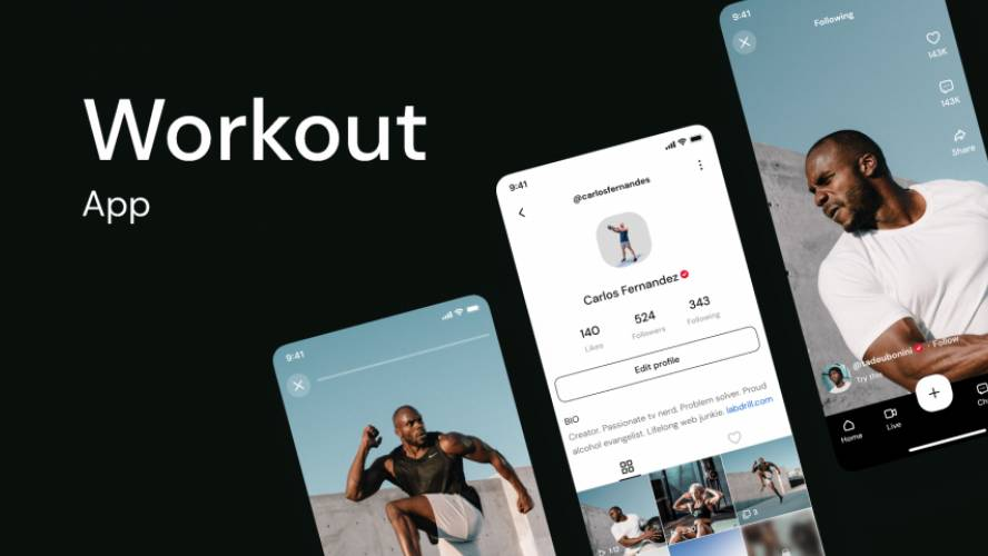 Figma Workout App Free Template