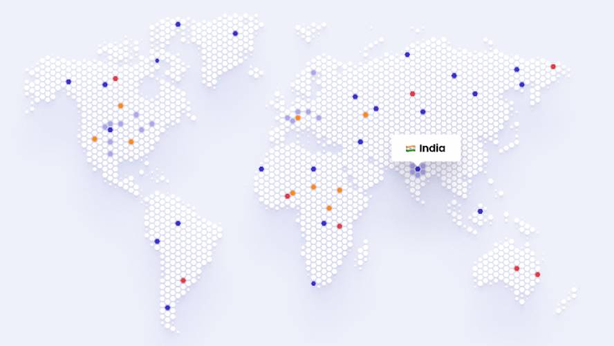 Figma World Map Dotted Free template