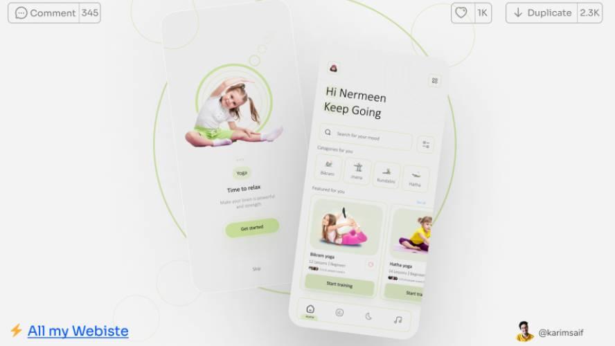 Figma Yoga App Design Free Download