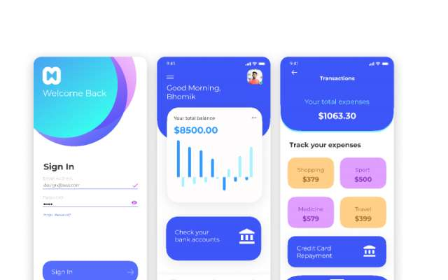 Finance Application Figma Mobile App