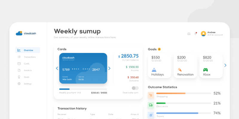 Financial Dashboard Figma Template