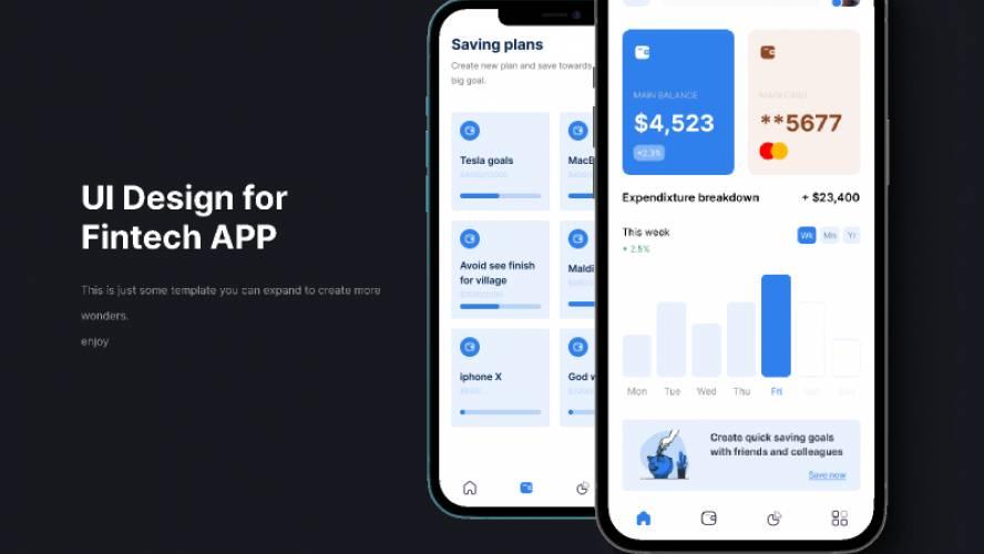 Fintech App Design figma free