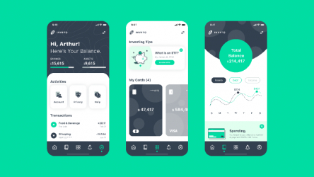 Fintech Banking Investing App UI/UX Figma templates