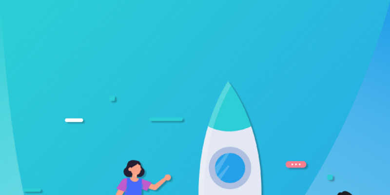 Flat Design Rocket figma  free