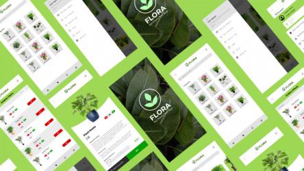 Flora App figma design ui4free