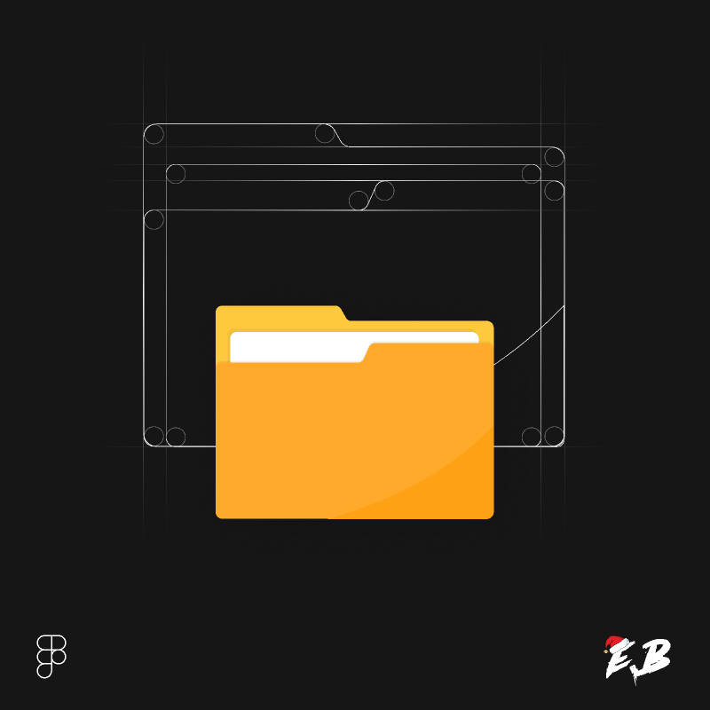 Folder illustration design Figma