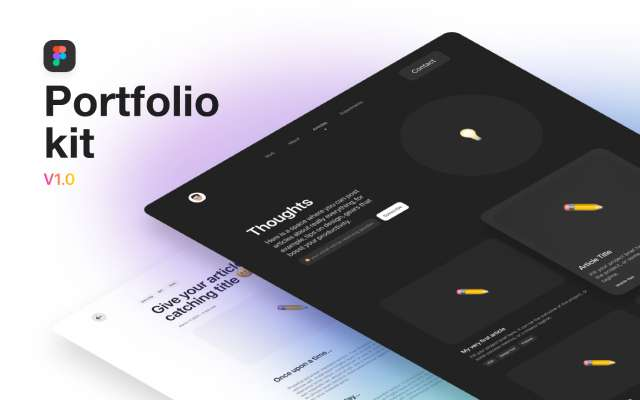 Folify Portfolio Kit Figma Free