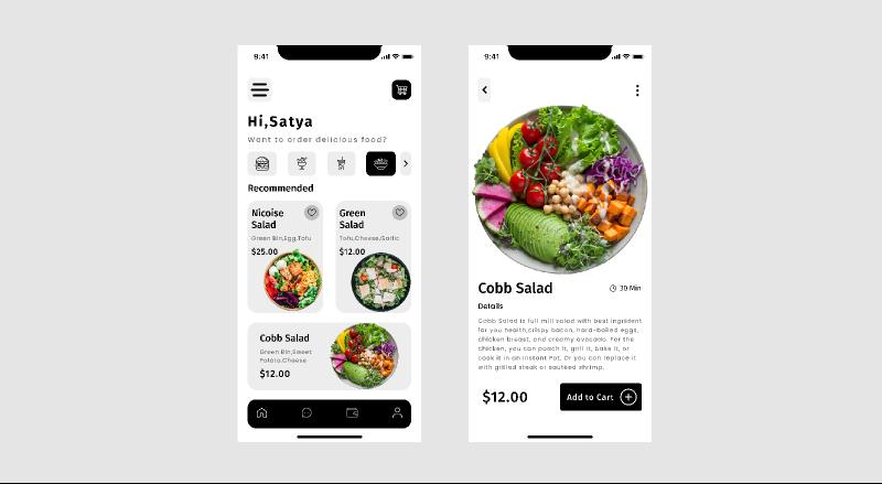 Food app design figma teamplates free