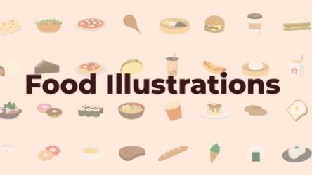 Food Illustrations design figma
