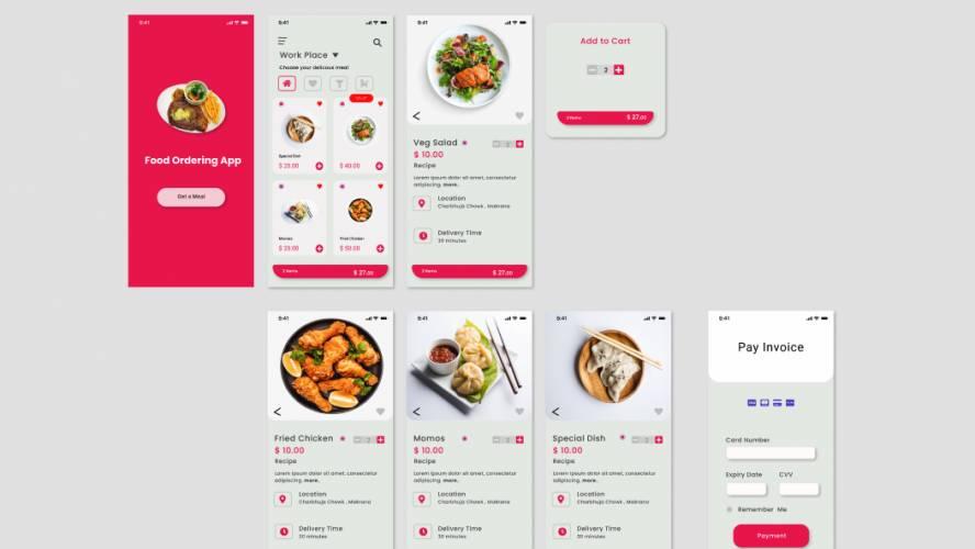 Food ordering App Figma Template
