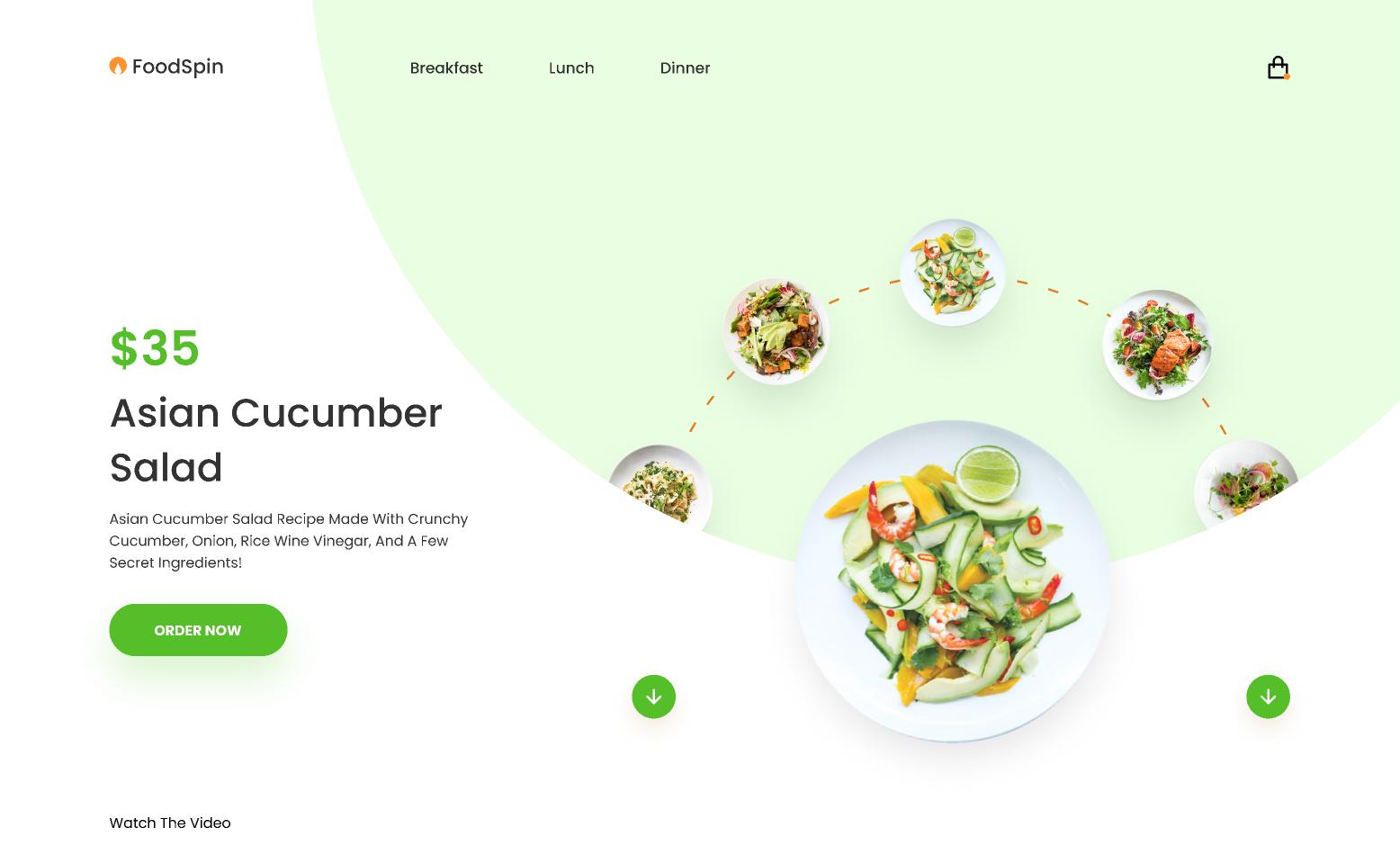 FoodSpin interaction