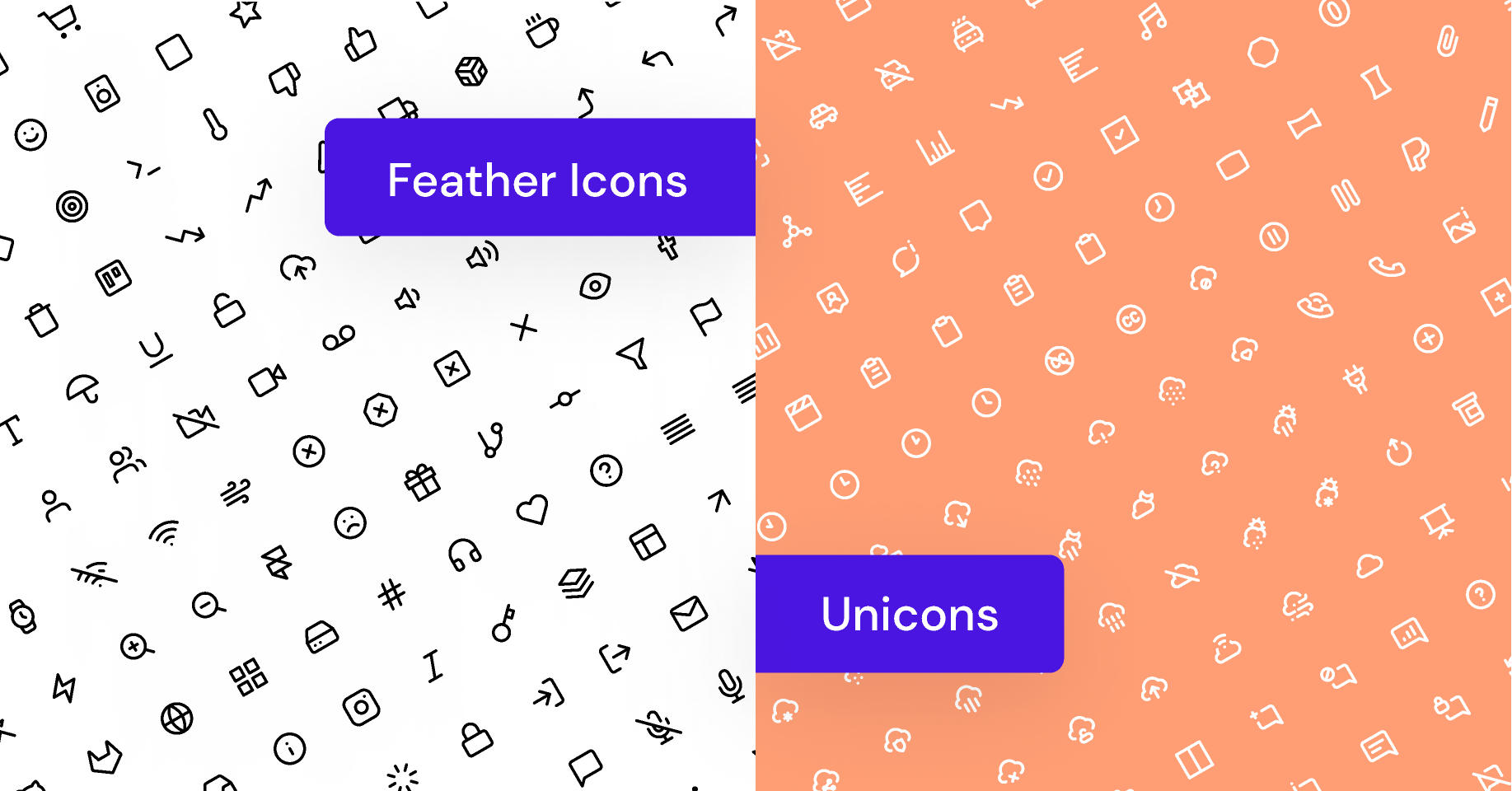 Frebie 1000+ Feather Icons & Unicons Library
