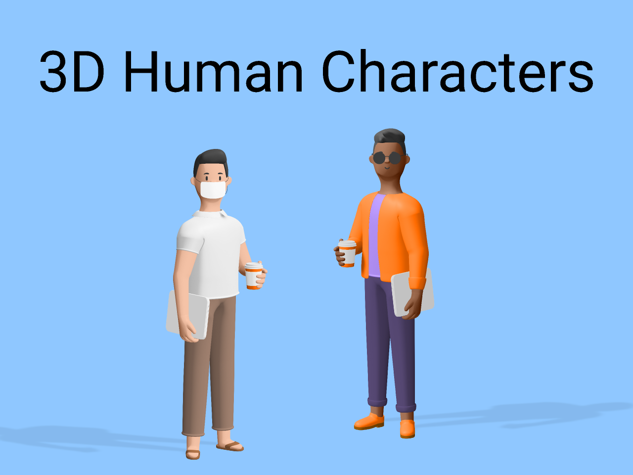 Free 3d Humans characters (figma template)
