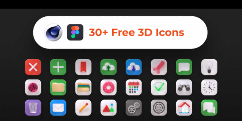 Free 3D Icons Pack (Figma file)