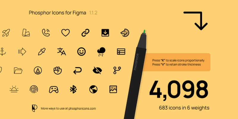 Free 683 Phosphor Icons (Figma icons)