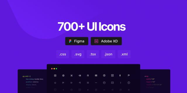 Free 700 Ui icons Figma