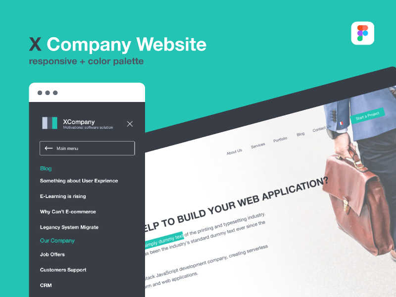 Free company website (one page)