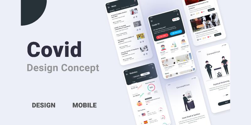 Free Covid-19 App Design Figma Template