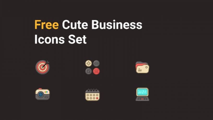 Free Cute Business Icons Figma Template