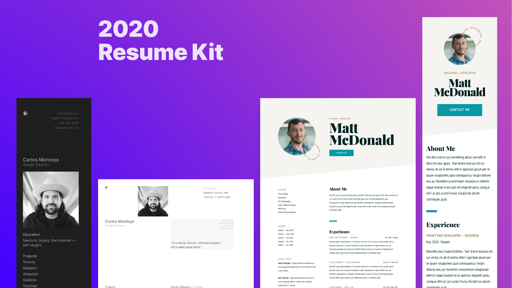 Free download 2020 Responsive Resume Kit