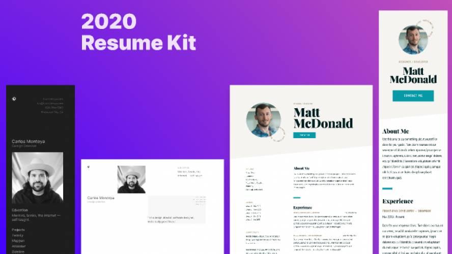 Free download 2020 Responsive Resume Kit