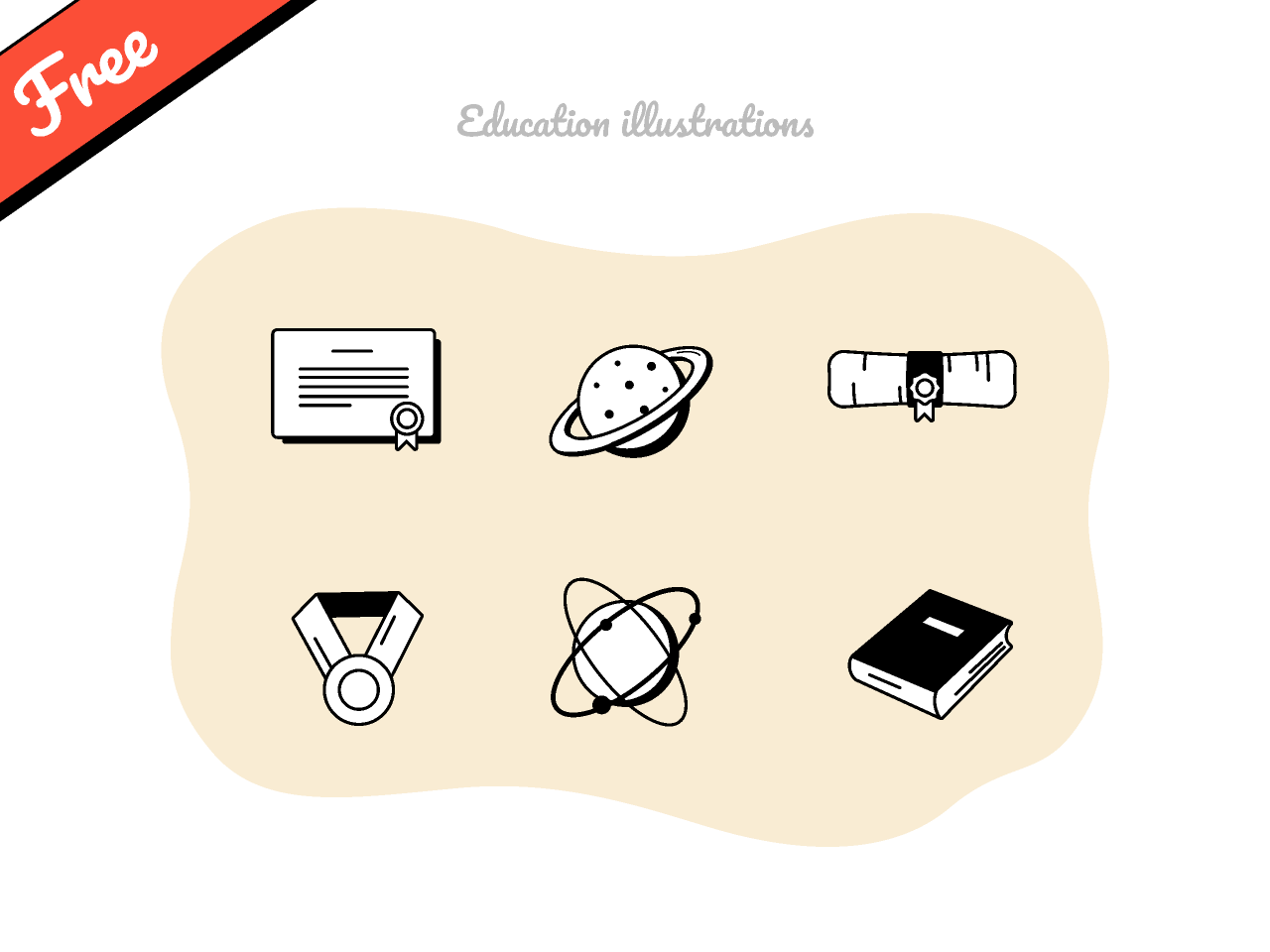 Free Education illustrations Figma
