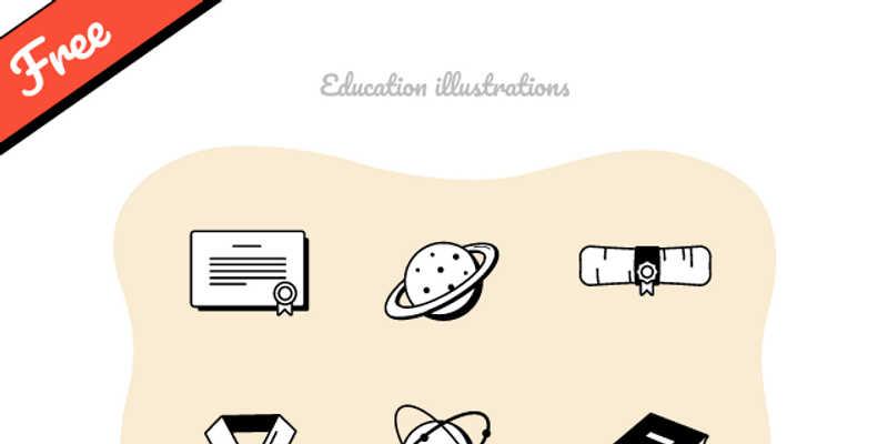 Free Education illustrations Figma