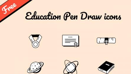 Free Education Pen Draw icons set figma