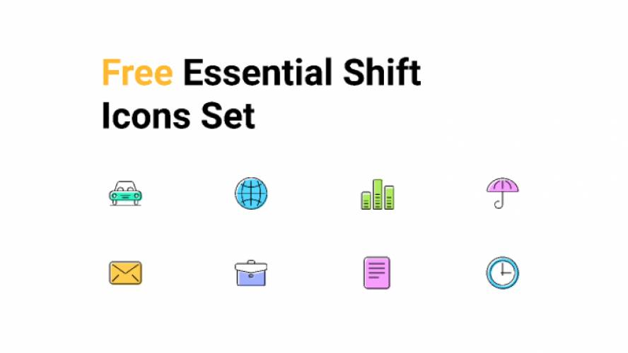 Free Essential Shift Figma Icons