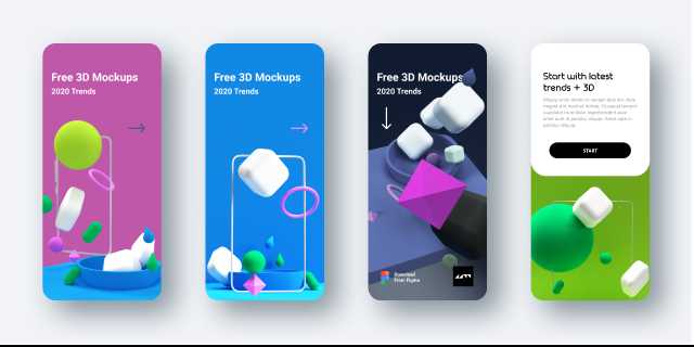Free Figma 3D models for your new app design