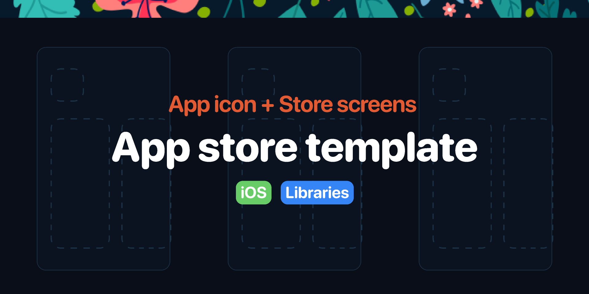 Free figma App store template - App icon & Store screens
