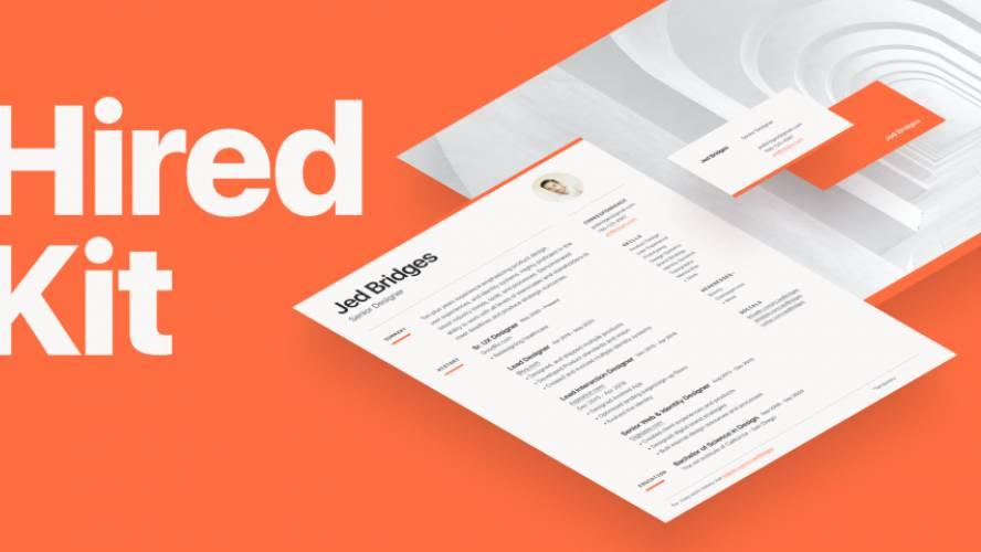 Free Figma CV template (Hired Kit)