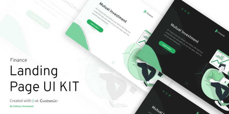 Free Figma Finance Landing page UI kit