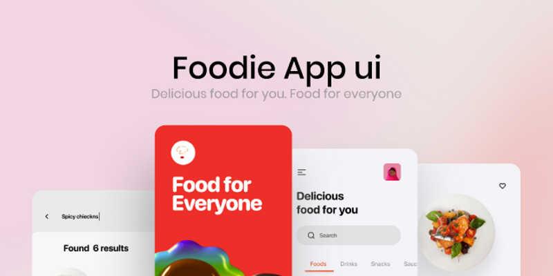 Free Figma Food app Ui kit