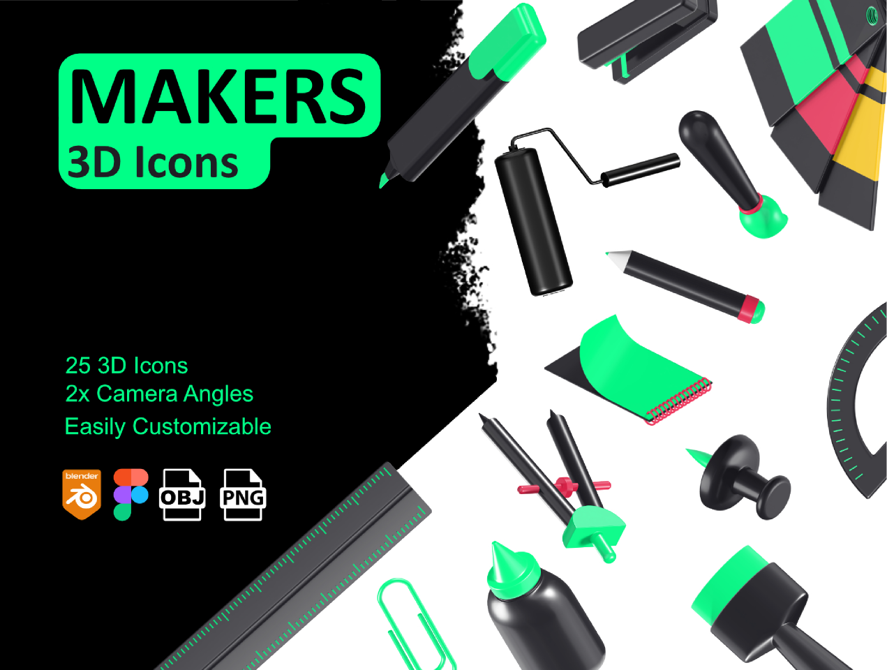 Free figma icons Makers-3D icons