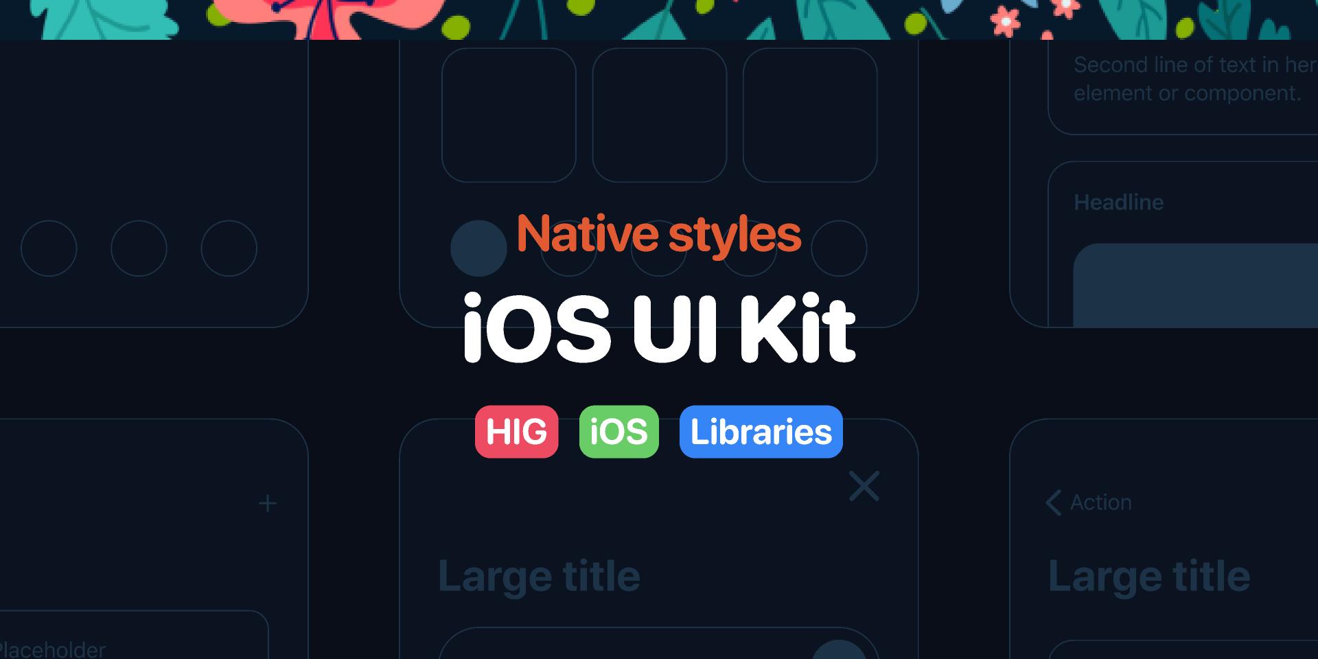 Free figma iOS UI Kit - Native styles Template