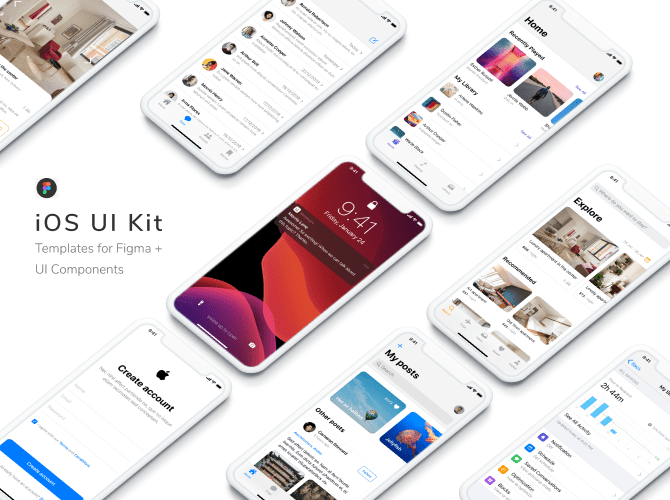 Free Figma iOS UI Kit – iOS 13 Template