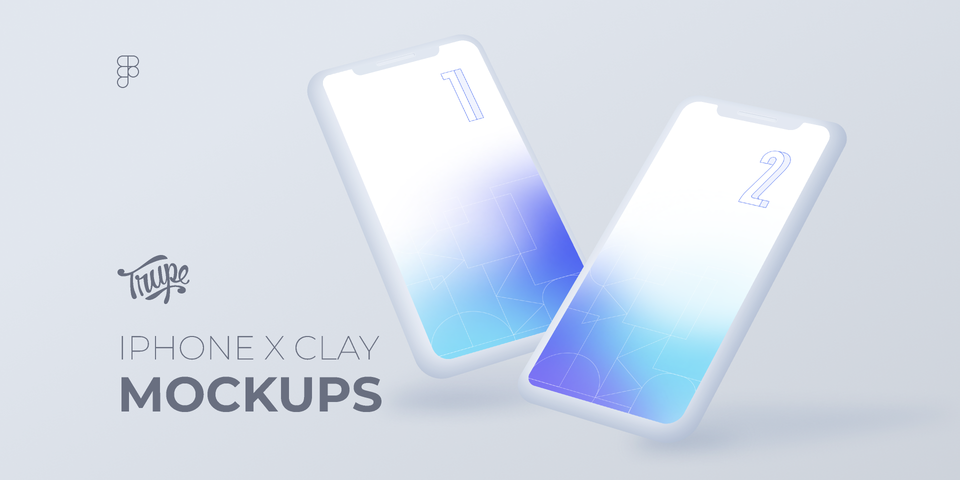 Free figma iphone clay mockup