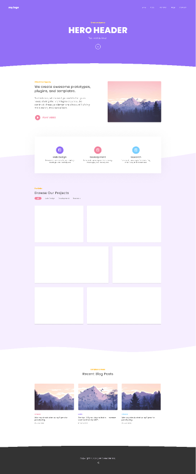 "Free figma Landing Page Template - ""Hero Header"""