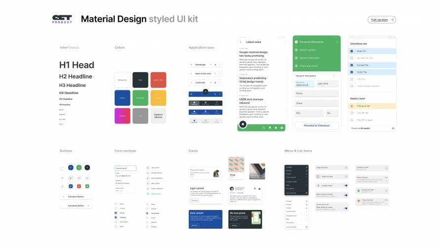 Free Figma Material Design UI kit - Components library