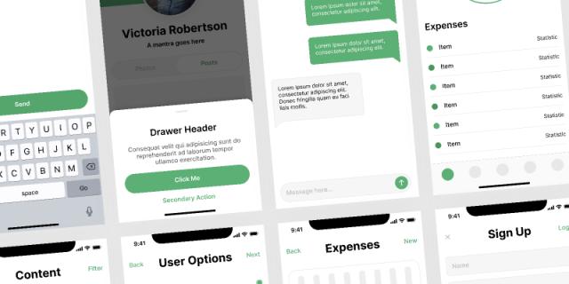 Free Figma Mobile UI kit