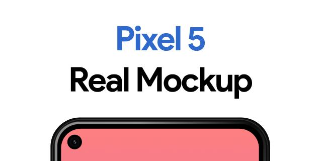 Free Figma Pixel 5 Real Mockup